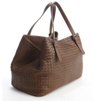 Bottega Veneta medium brown intrecciato leather tote