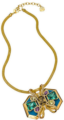 Carolee Turquoise Bow Collar Rock On Necklace