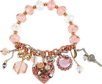 Betsey Johnson Vintage Heart Charm Bracelet