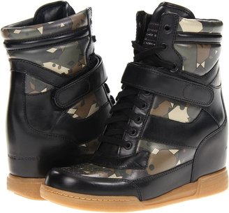 Marc by Marc Jacobs Camo Sneaker Wedge (Camo/Black) - Footwear