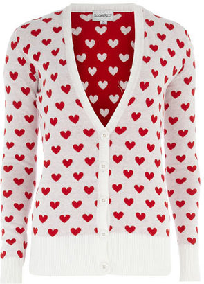 Dorothy Perkins White love heart cardigan