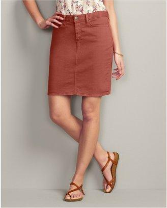 Eddie Bauer Slightly Curvy Color Denim Skirt