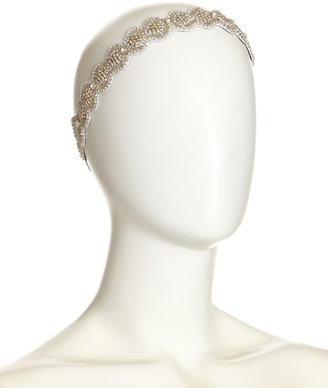 Deepa Gurnani Wavy Woven Embellished Headband