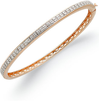 Townsend Victoria Rose-Cut Diamond Bangle Bracelet in 18k Rose Gold-Plated Brass (1/2 ct. t.w.)