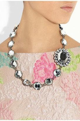 Miu Miu Crystal-embellished matelassé leather shoulder bag