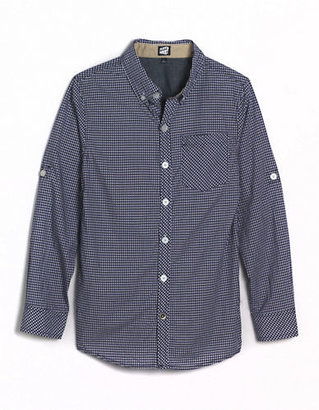 JUST MAX Boys 8-20 Checked Button-Down Cotton Shirt