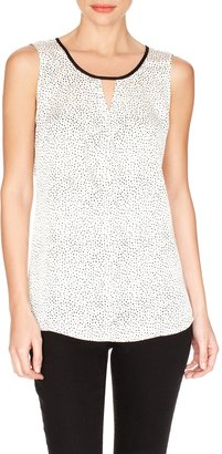 The Limited Dotted Sleeveless Cutout Shirt