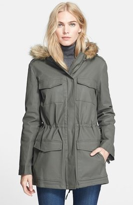 Joie 'Daley' Faux Fur Trim Hooded Jacket