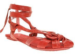 Urban Outfitters Leather Knot Toe Ankle Wrap