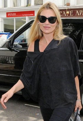 Ray-Ban Cats 1000 Sunglasses in Black as seen on Kate Moss