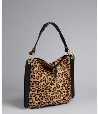BCBGMAXAZRIA leopard print calf hair 'Amelie' shoulder bag