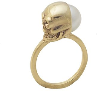 House Of Harlow Skull and Pearl Ring