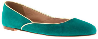 J.Crew Piped suede ballet flats