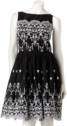 Expo embroidered fit & flare dress - women's