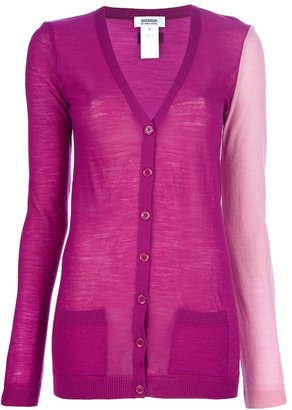 Sonia Rykiel Sonia By Contrast sleeve cardigan