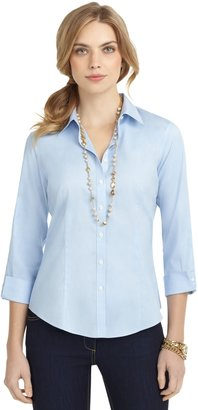 Brooks Brothers Non-Iron Fitted Three-Quarter Sleeve Dress Shirt