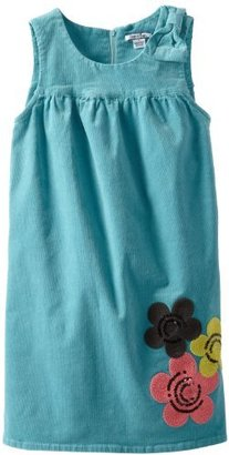 Hartstrings Girls 7-16 Fine Wale Corduroy Dress with Floral Embroidery