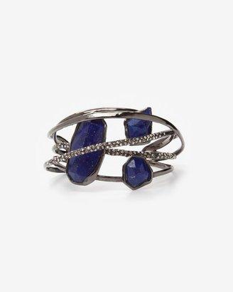 Alexis Bittar Custom Lapis Five Ring Cuff Bracelet