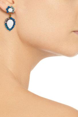 Dannijo Cruz oxidized brass Swarovski crystal drop earrings