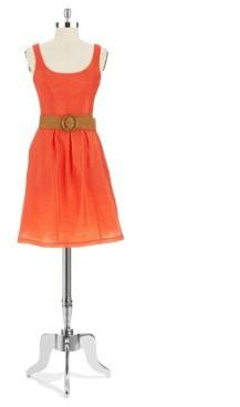 Nine West Pleated Dress with Belt