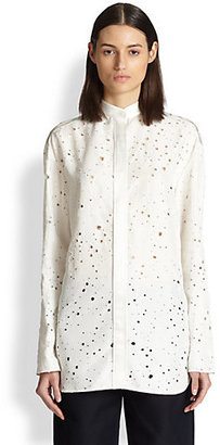 Alexander Wang Laser-Cut Distressed Shirt
