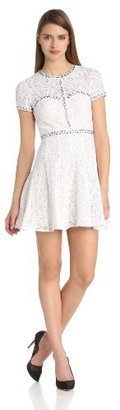BCBGMAXAZRIA Women's Gill Embellished Lace Dress