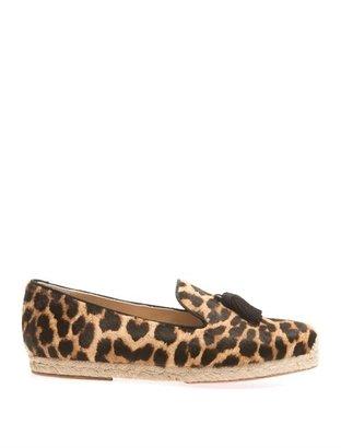 Christian Louboutin Spanish Cheetah calf-hair espadrilles
