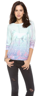 Wildfox Couture Garden Trot Baggy Pullover