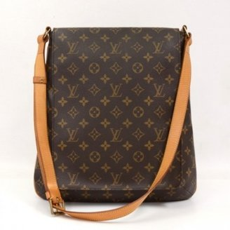 Louis Vuitton very good (VG Brown Monogram Canvas Musette Large Shoulder Bag