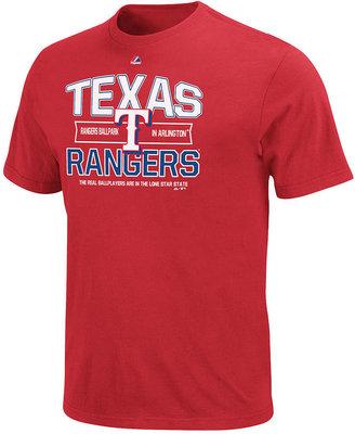 Majestic MLB Men's T-Shirt, Texas Rangers Graphic T-Shirt