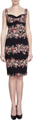 Dolce & Gabbana Floral Print Sleeveles Bustier Dress