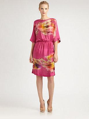 Josie Natori Silk Caftan Dress