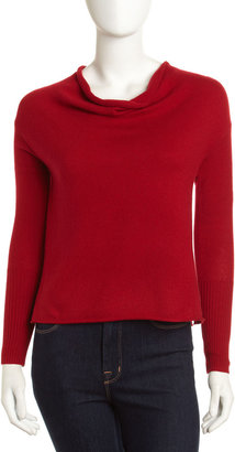 Robert Rodriguez Cowl-Neck Cashmere Sweater, Red