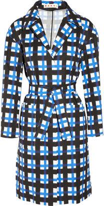 Marni Checked taffeta coat