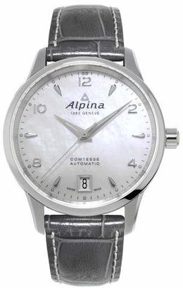 Alpina Comtesse Automatic White Mother of Pearl Dial Ladies Watch