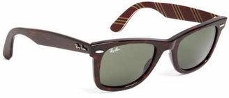 Brooks Brothers Ray-Ban Wayfarer Sunglasses with Burgundy BB#1 Rep Stripe