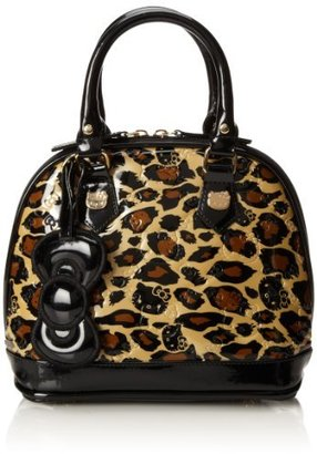 Hello Kitty Leopard Patent Embossed Mini Top Handle Bag
