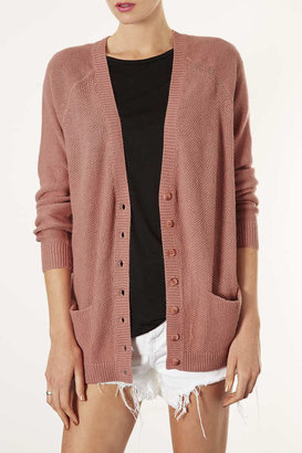 Topshop Knitted Texture Stitch Cardi