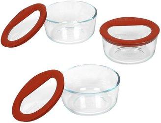 Pyrex no leak 6-pc. storage dish set