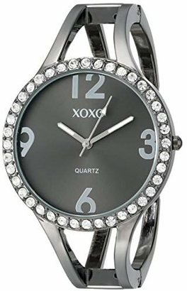 XOXO Women's XO1093 Dial Gun Metal Bangle Watch