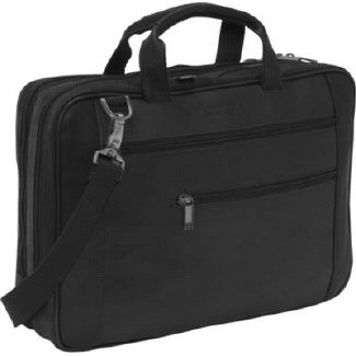 "Kenneth Cole Reaction Double Play"" Leather Laptop P"