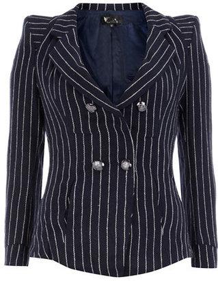 Dorothy Perkins Navy stripped shoulder blazer