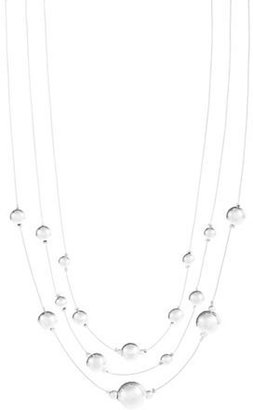 Lord & Taylor Three-Row Illusion Necklace