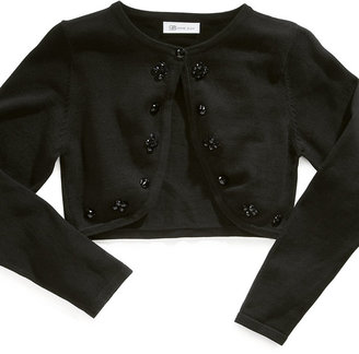 Bonnie Jean Kids Sweater, Girls Floral-Trim Cardigan