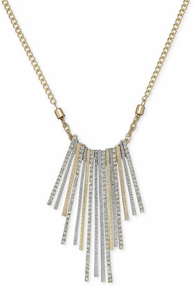 INC International Concepts Gold-Tone Metallic Stick Crystal Pavé Frontal Necklace $34.50 thestylecure.com