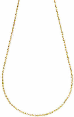 Tag Heuer FINE JEWELLERY 14K Yellow Gold Seamless Rope Chain