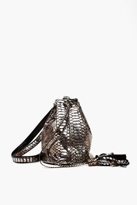Nasty Gal Lola Metallic Bucket Bag