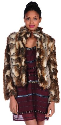 Romeo & Juliet Couture Faux Fur Jacket