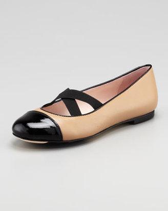Taryn Rose Bice Crisscross Ballet Flat