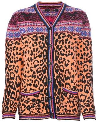 Sister By Sibling fair isle leopard cardigan